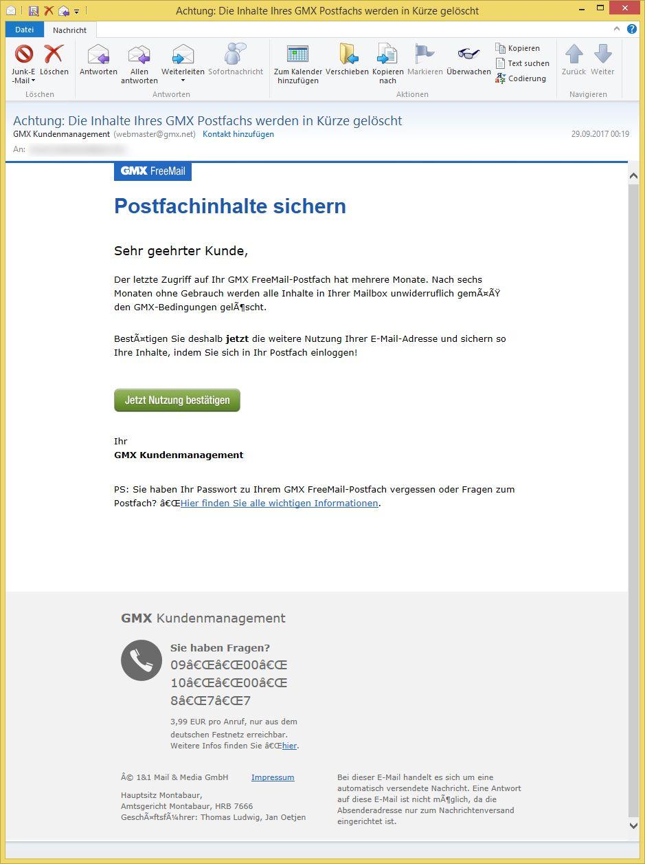 gmxnet mail