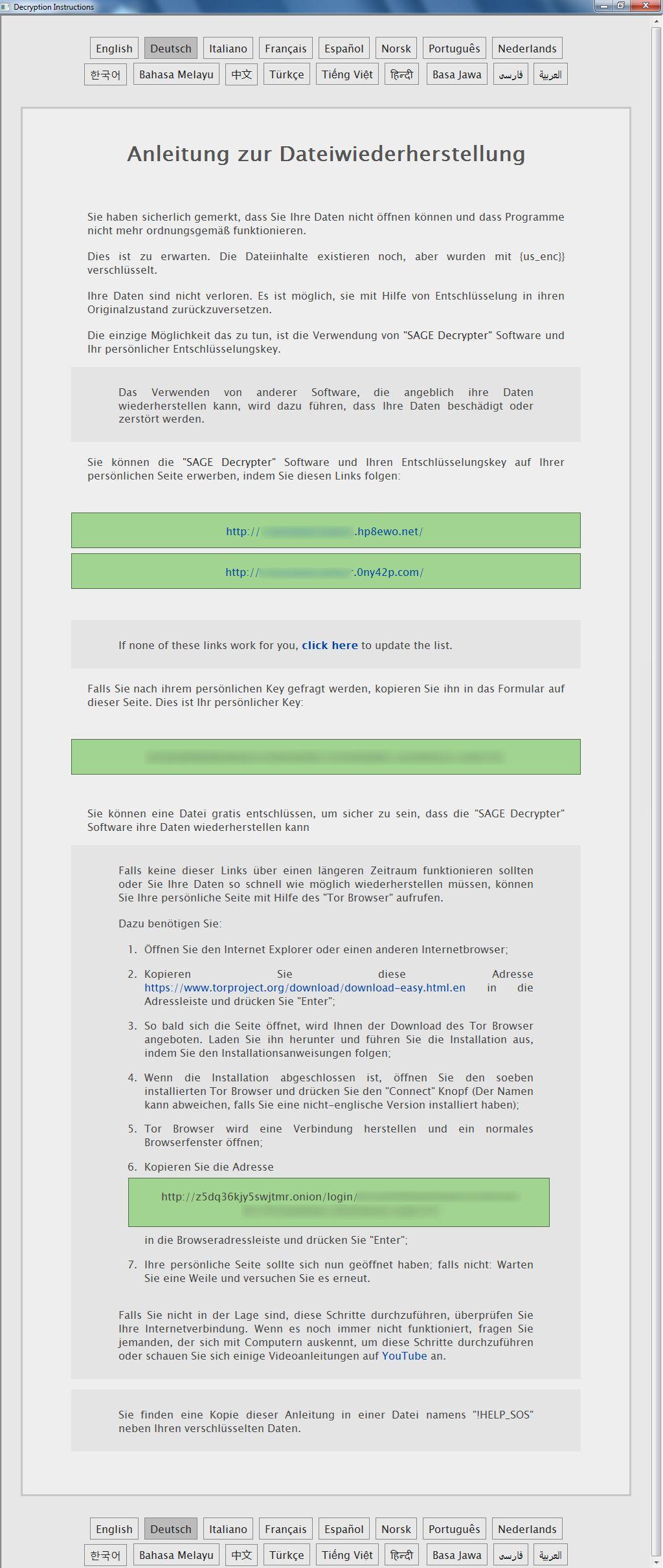 E-Mail ohne Betreff bringt Sage Ransomware (Verschlüsselungs- und ...