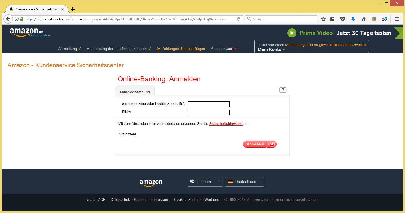 Amazon Kundenkonto Eingeschränkt Email