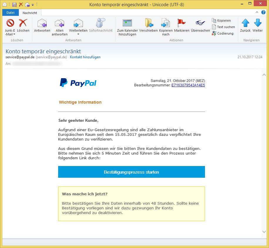 paypal kundendaten verifizieren