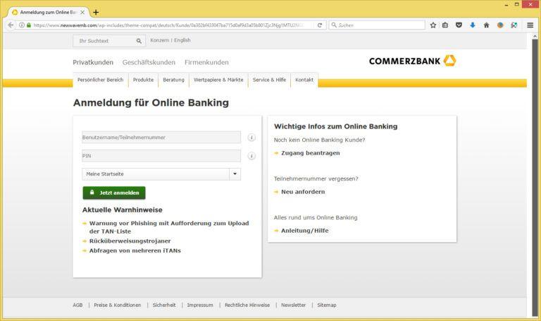 Anschrift Commerzbank