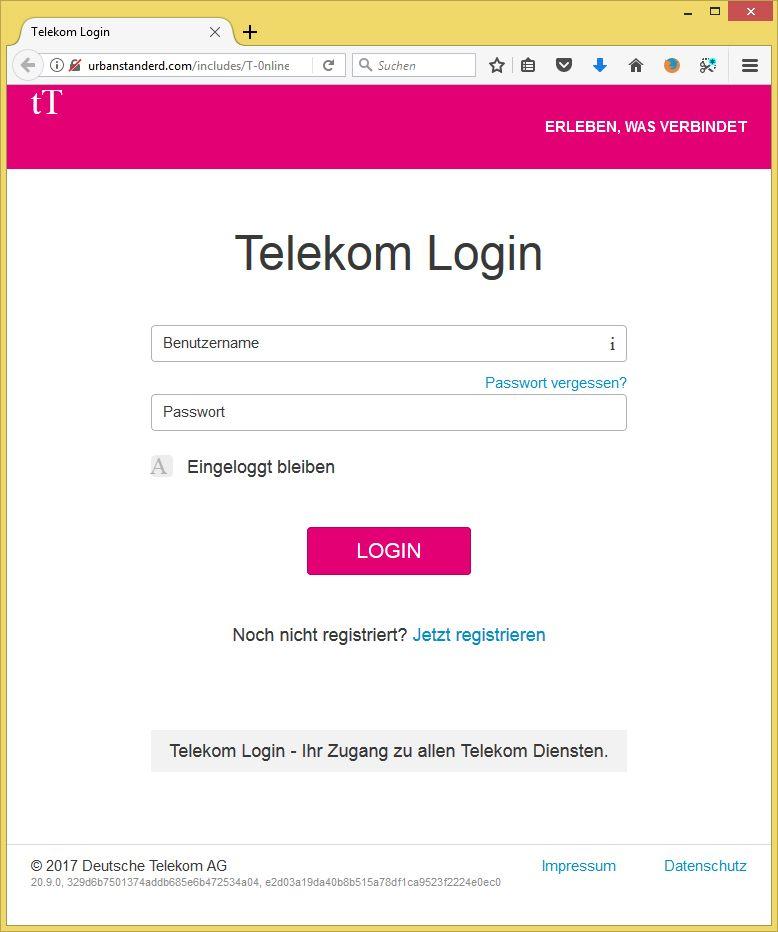 Telekom Web Login