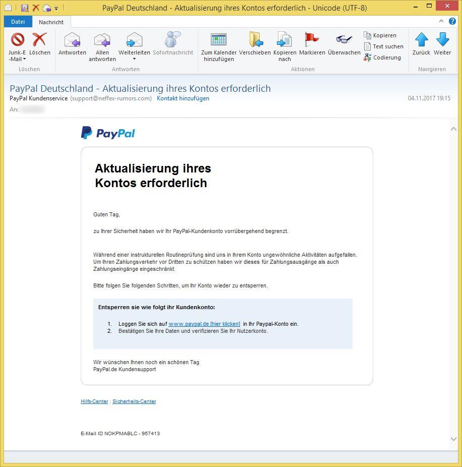 Service Paypal-Deutschland Spam