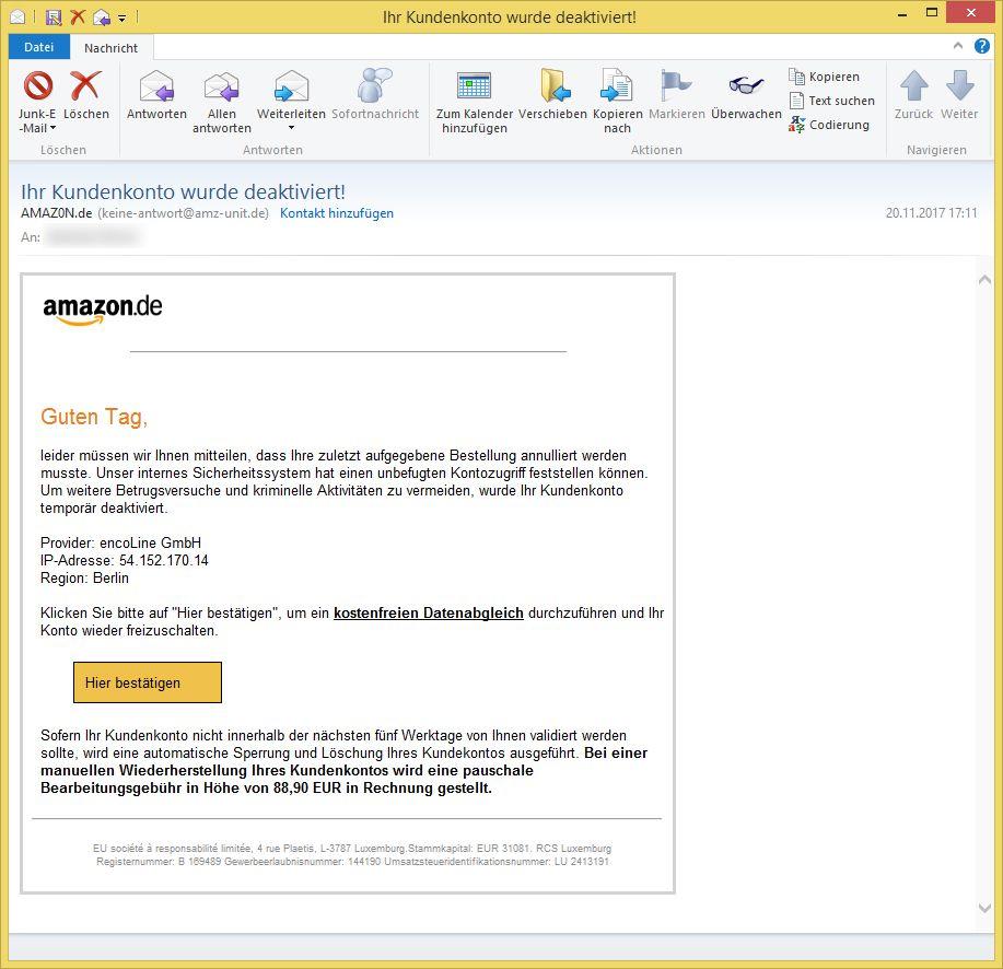 Ihr Amazon De Passwort Wurde Deaktiviert