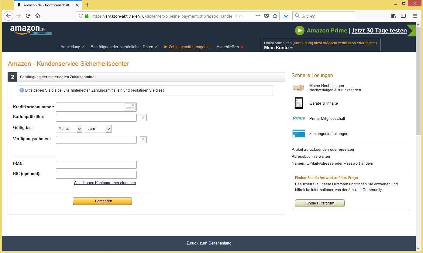 Amazon Kundenkonto Deaktiviert Mail