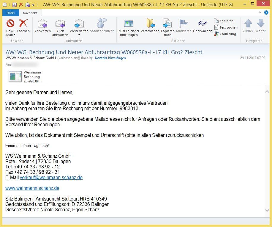 rechnung mail und media 1 1 phishing ihre rechnung ist. Black Bedroom Furniture Sets. Home Design Ideas
