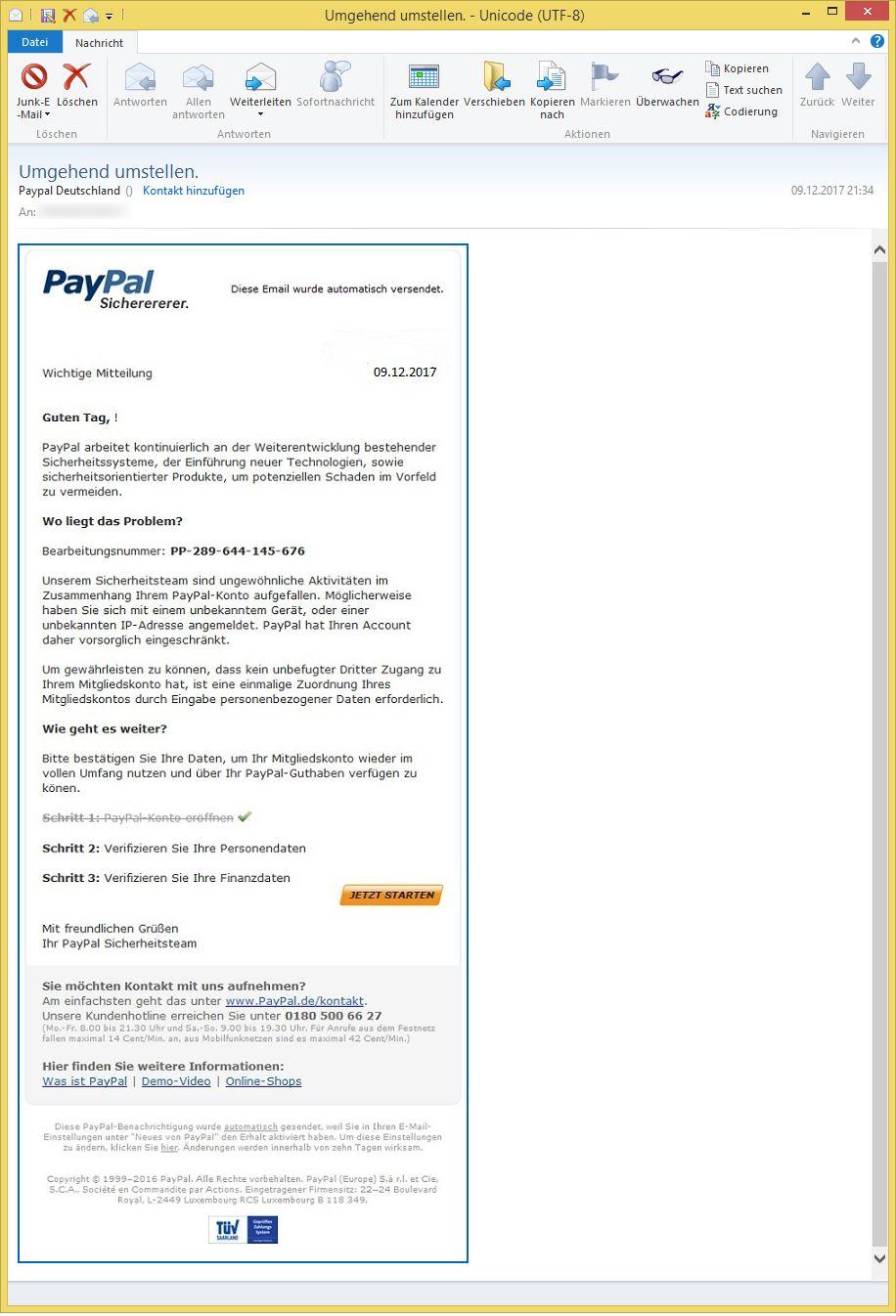 E Mail AdreГџe Paypal Deutschland
