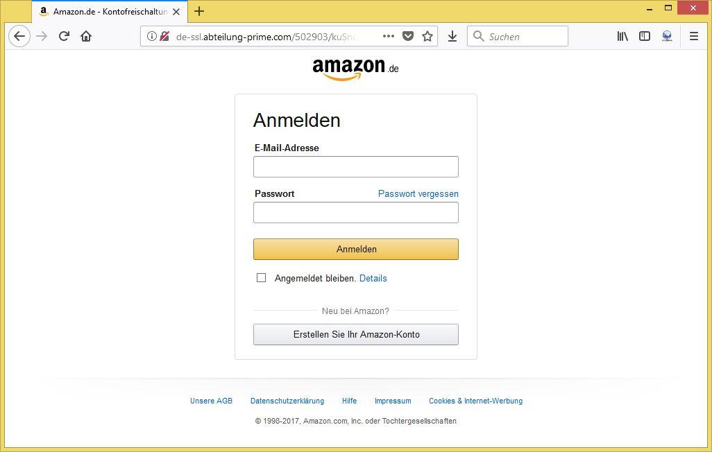 amazon phishing verifikation erforderlich von info rechnung vorsicht e mail. Black Bedroom Furniture Sets. Home Design Ideas