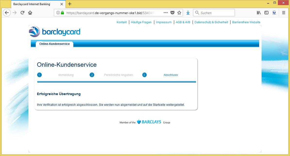 www barclaycard de login