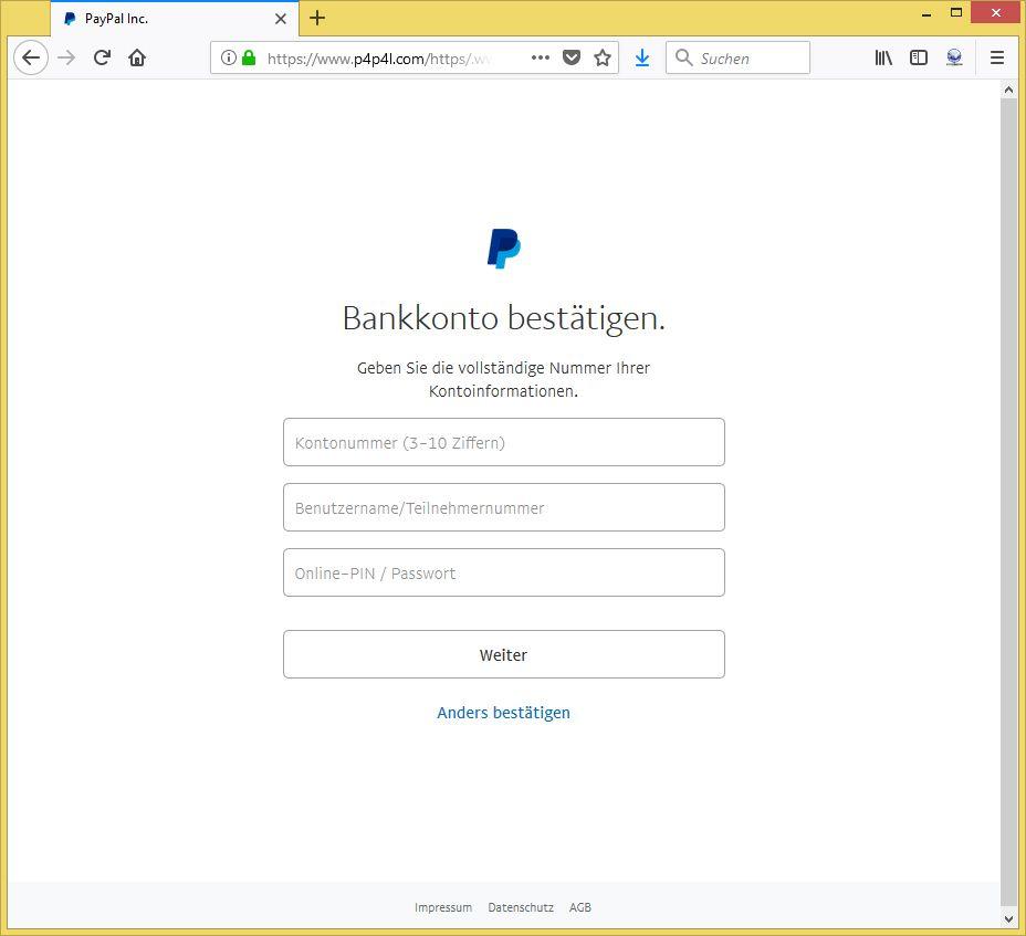 Paypal Verifizierungscode