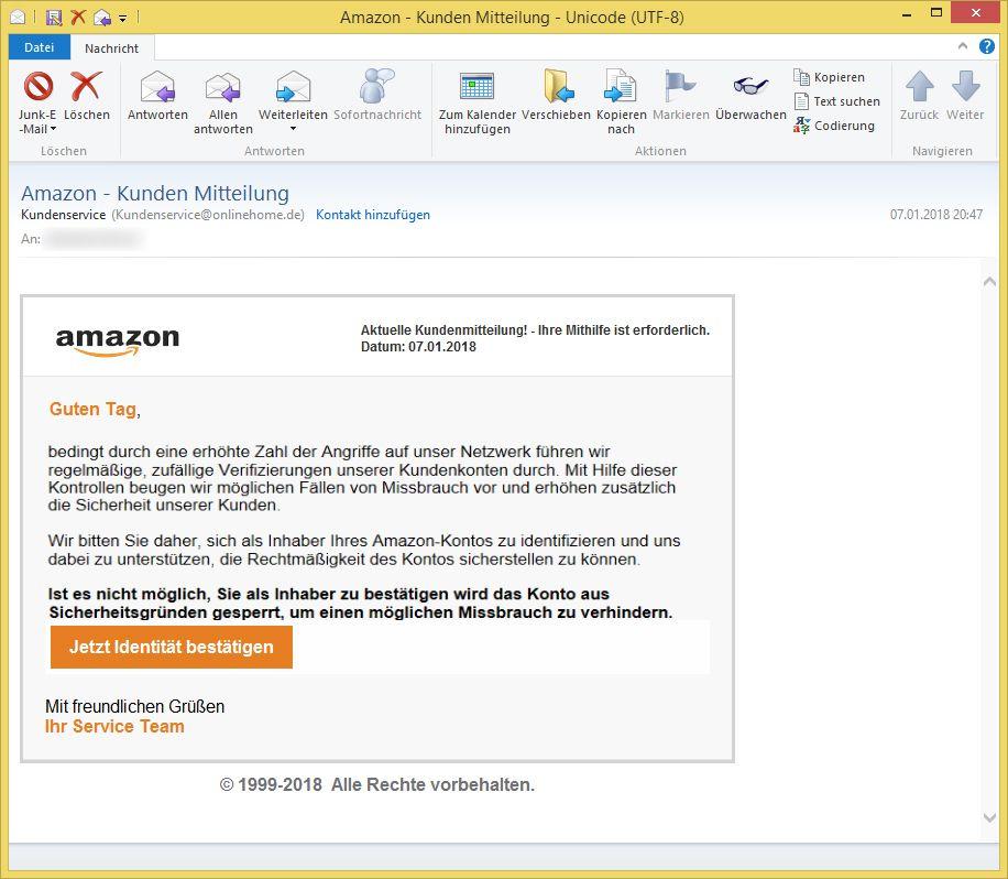 Amazon Kundenservice E Mail