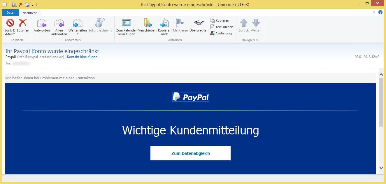 paypal ihr konto wurde vorübergehend eingeschränkt