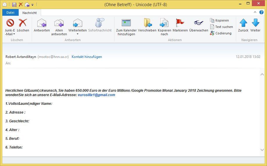 erste e mail zum kennenlernen