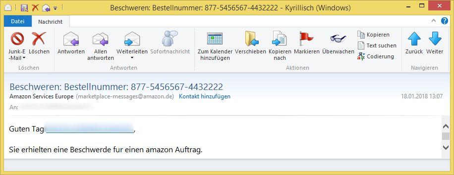 amazon beschwerde email