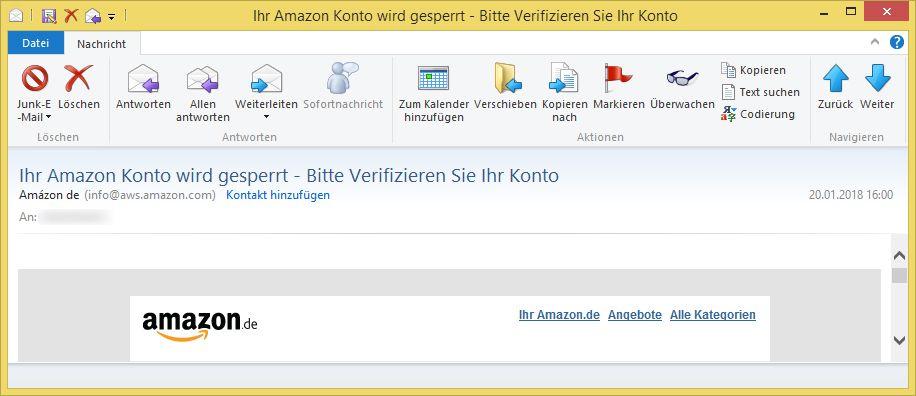 Amazon Konto Vorübergehend Gesperrt