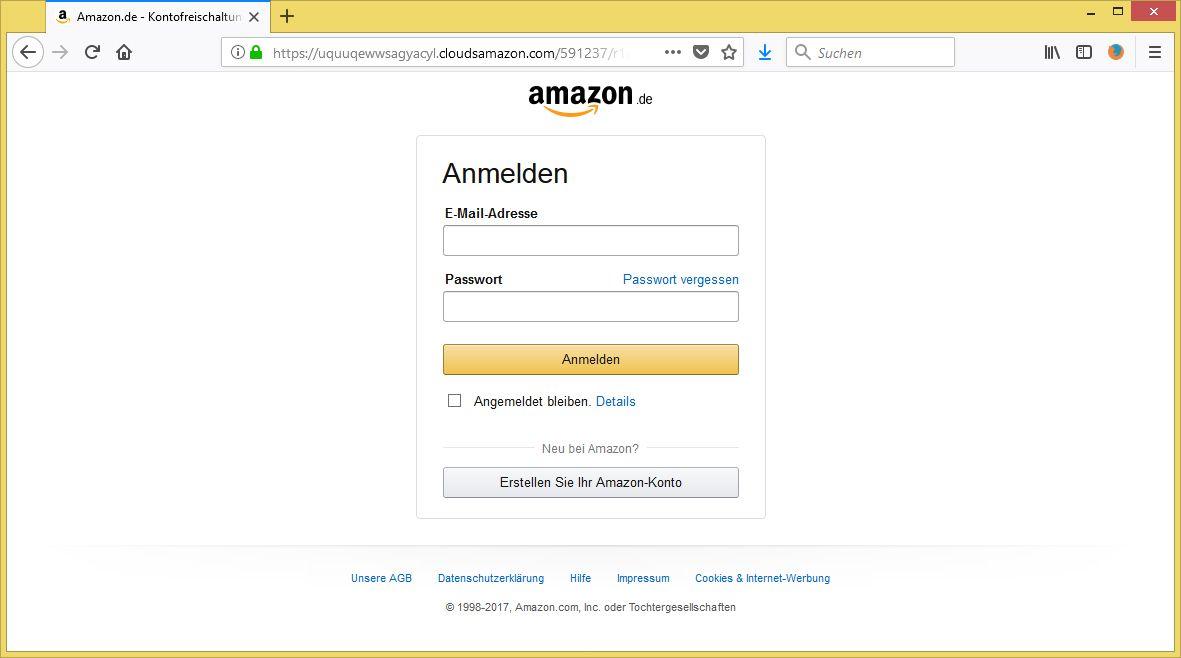Amazon Nutzerkonto Eingeschränkt