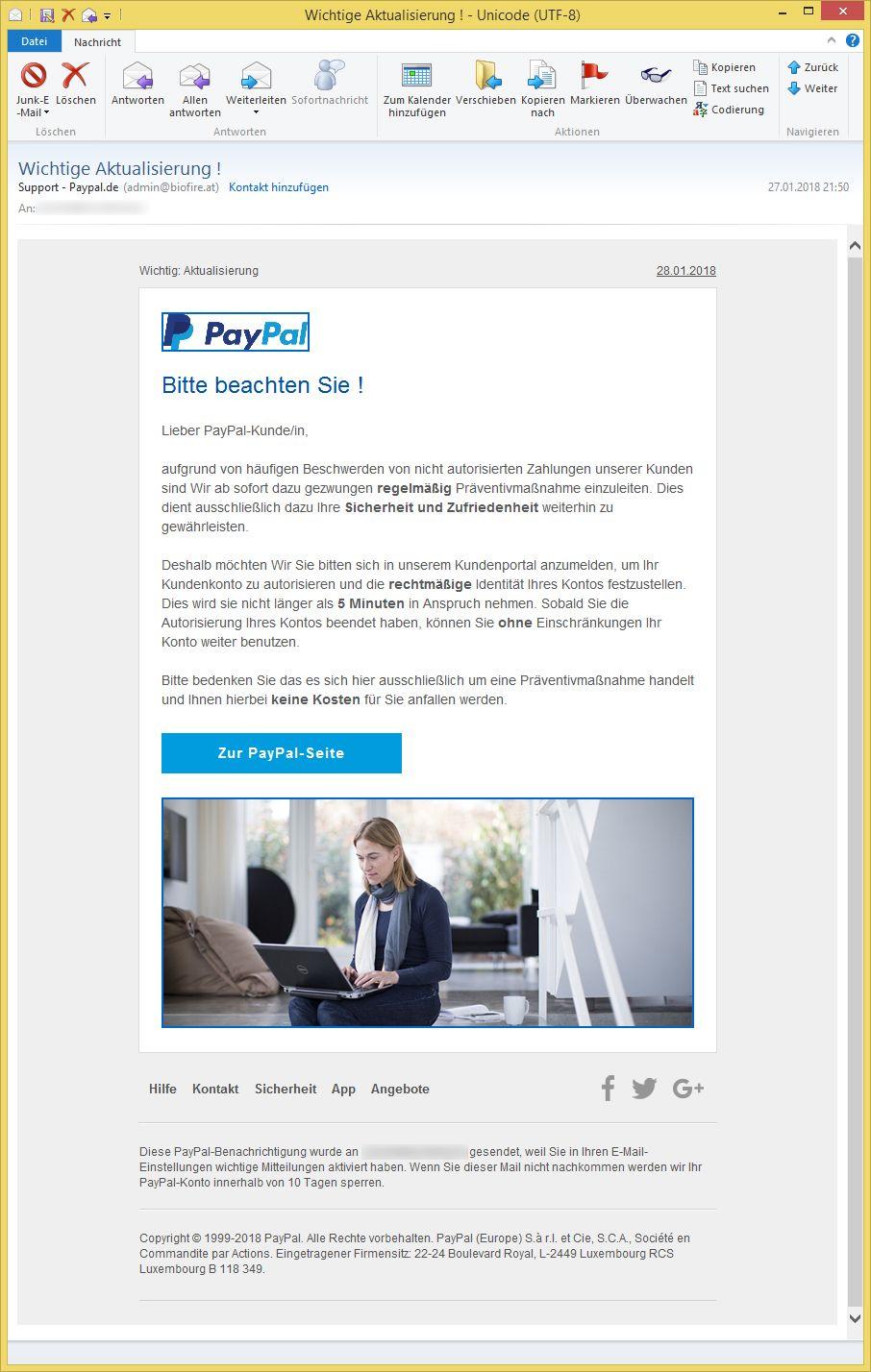 paypal support deutsch