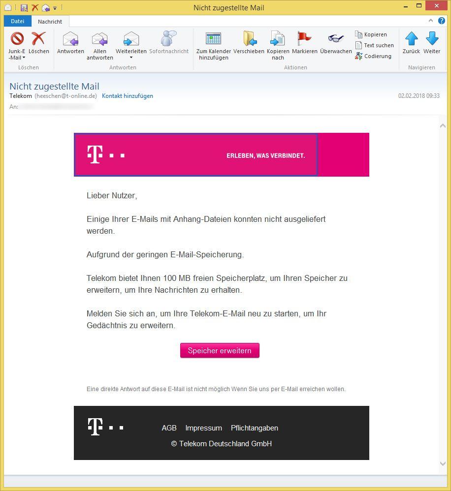nicht zugestellte mail von telekom heeschen t ist phishing vorsicht e mail. Black Bedroom Furniture Sets. Home Design Ideas