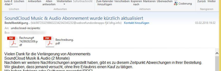 Apple Vorsicht E Mail