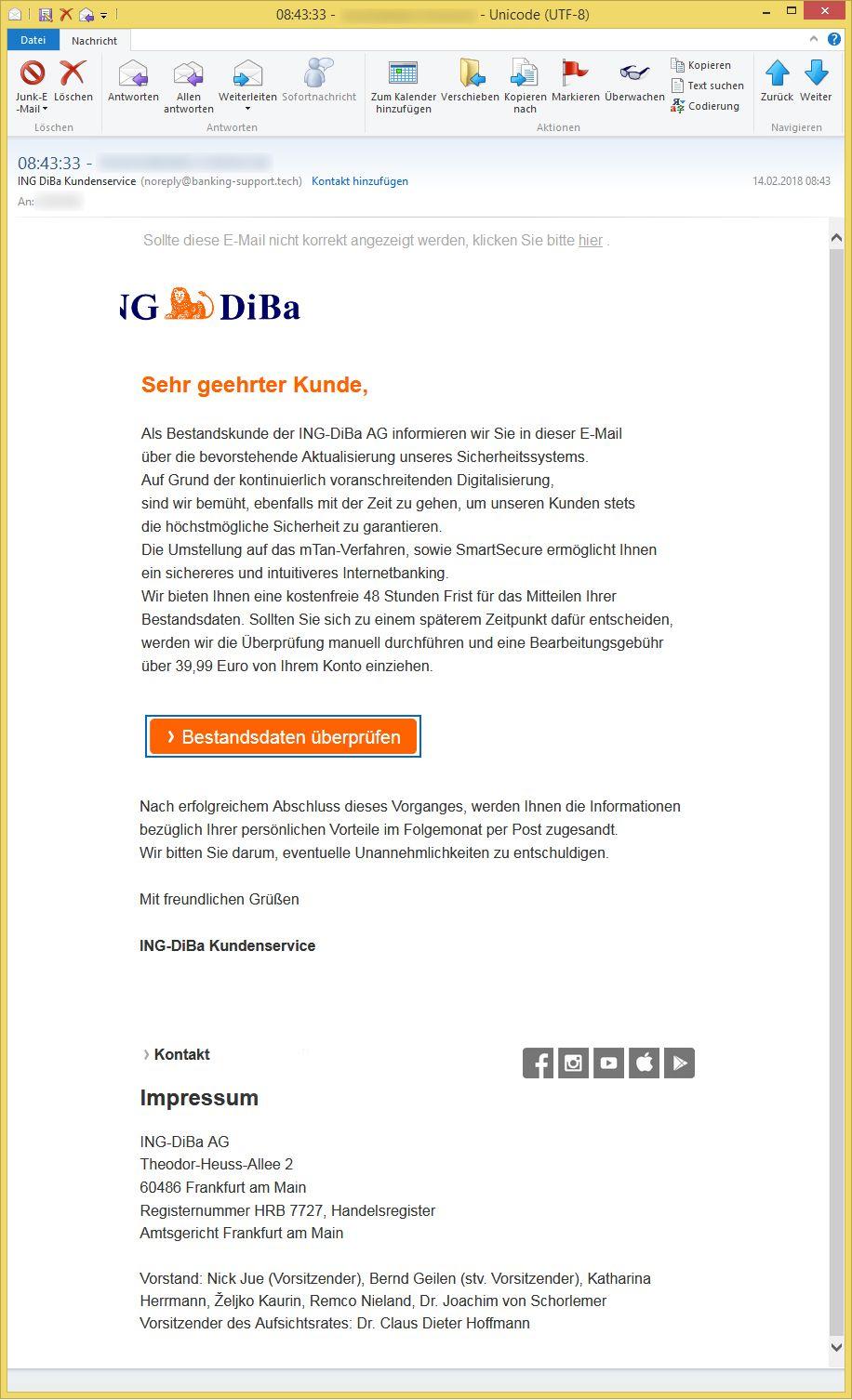 08 43 33 e mail adresse von ing diba kundenservice noreply banking ist. Black Bedroom Furniture Sets. Home Design Ideas
