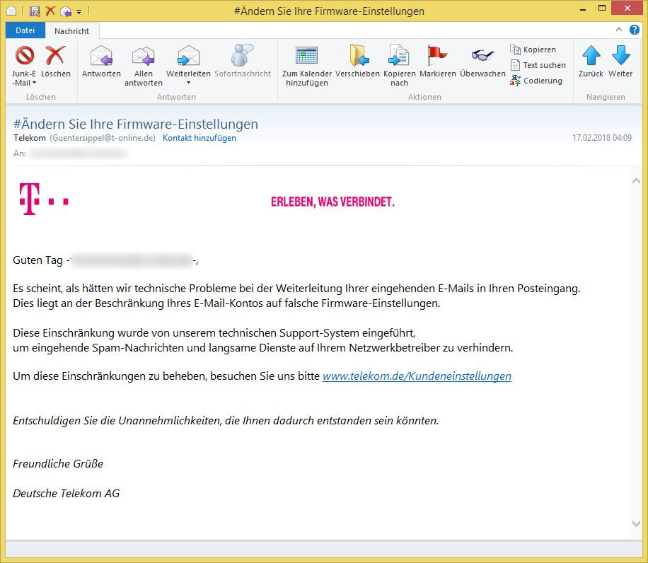 ndern sie ihre firmware einstellungen von telekom guentersippel t ist phishing. Black Bedroom Furniture Sets. Home Design Ideas
