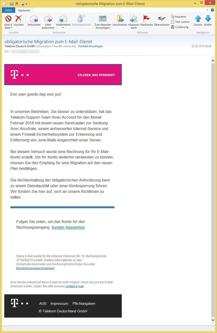 obligatorische migration zum e mail dienst von telekom deutsch gmbh gruentjens theo t. Black Bedroom Furniture Sets. Home Design Ideas