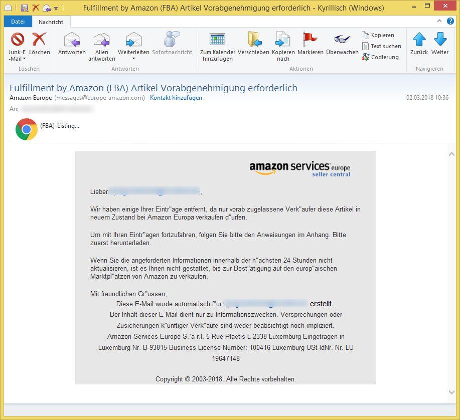 Amazon Services Seller Central Europe
