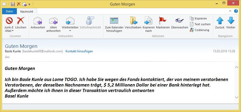 Guten Morgen Von Basle Kunle Baslekunle08 At Outlookcom Oder