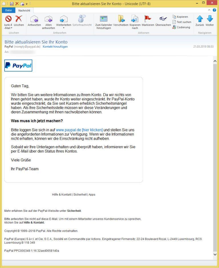 Paypal Konto Eingeschränkt Aufheben