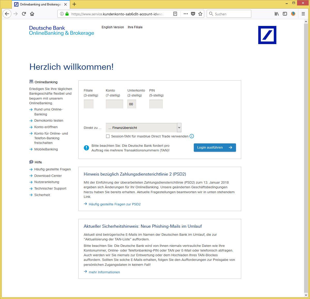 Deutsche Bank Email