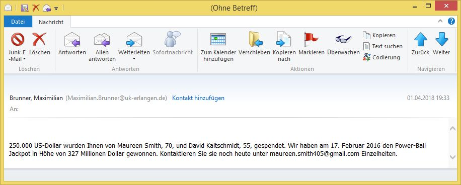 E Mail Von Brunner Maximilian Maximilianbrunner At Uk Erlangende
