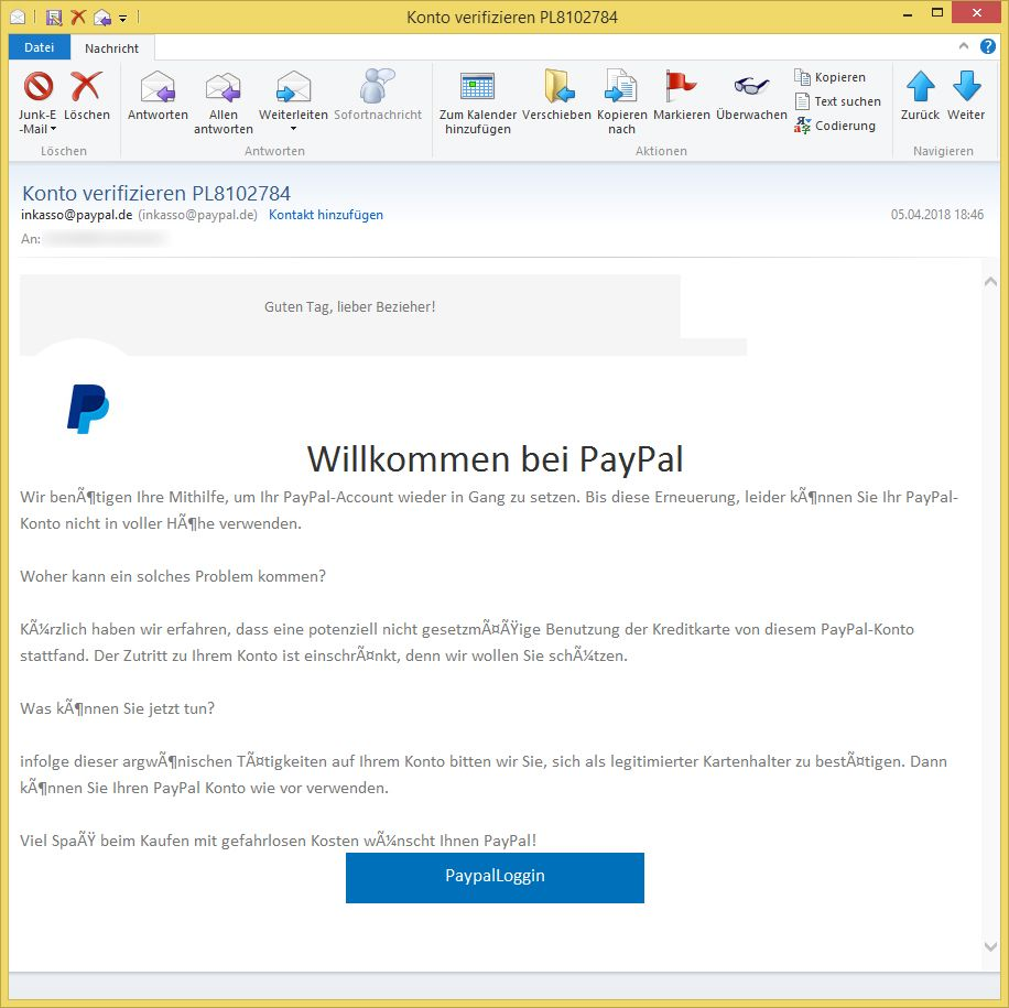 paypal account verifizieren email