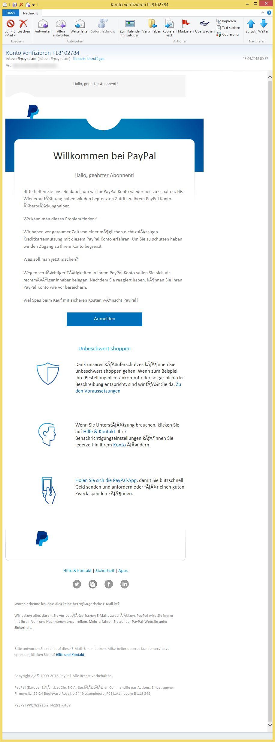 Email Von Paypal Konto Verifizieren