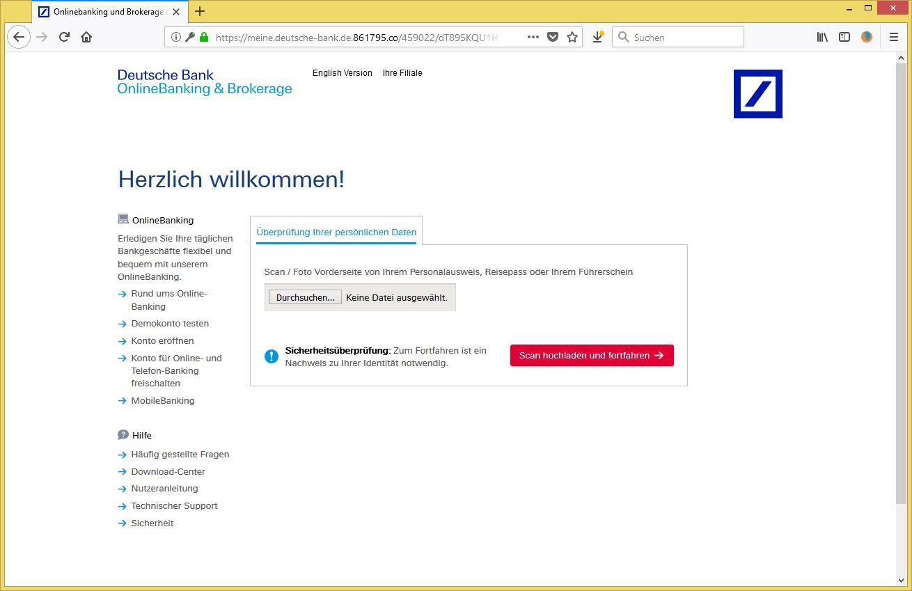 Wichtige Information Zu Ihrem Bankkonto Von Deutsche Bank Ag