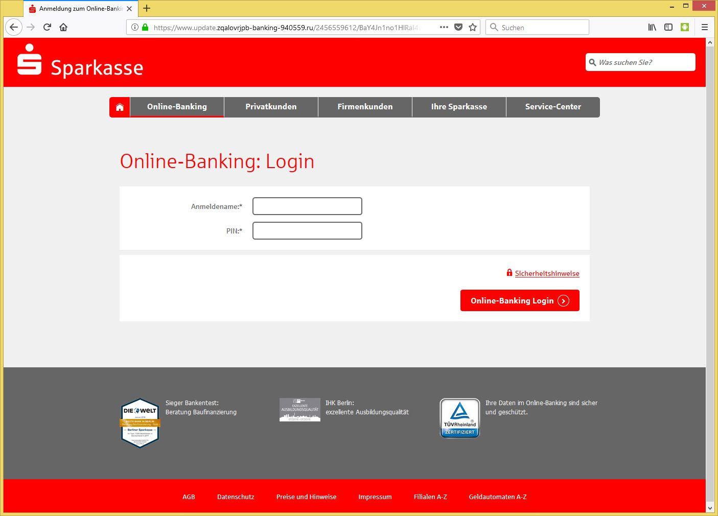 ostseesparkasse online banking login