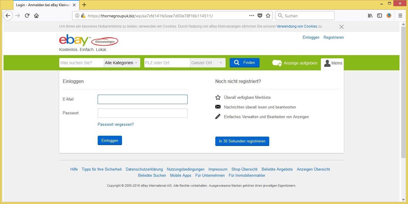 Ebay Kleinanzeigen Phishing