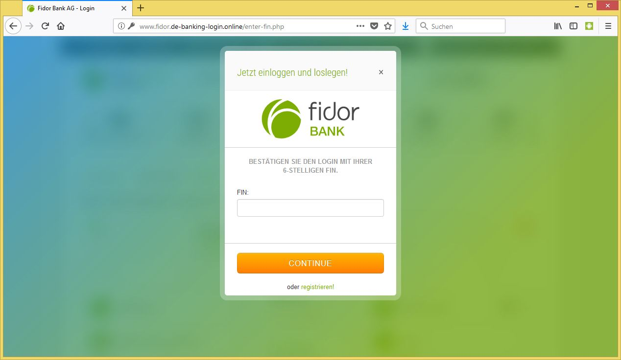 Fidorbank Login