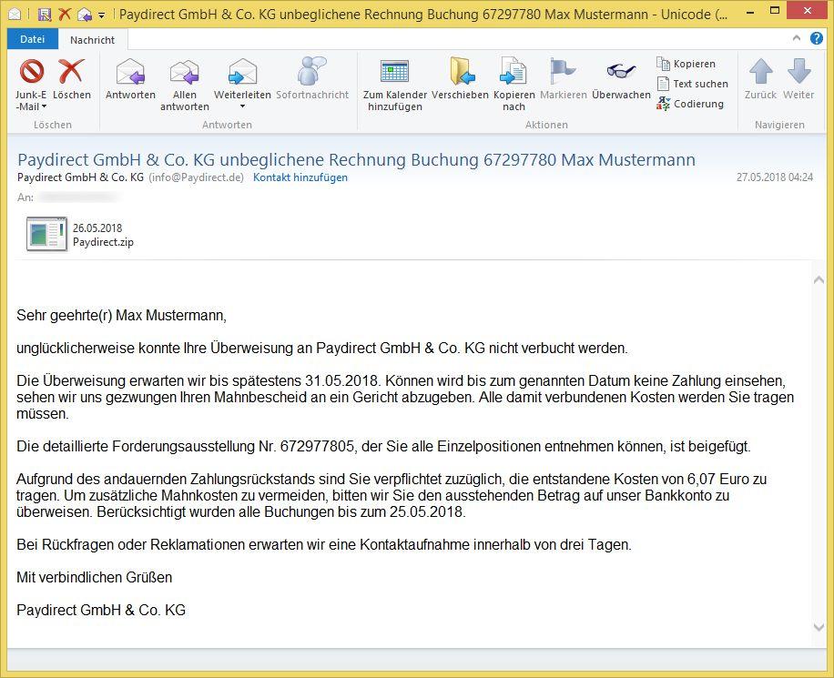 Paydirect Gmbh & Co. Kg