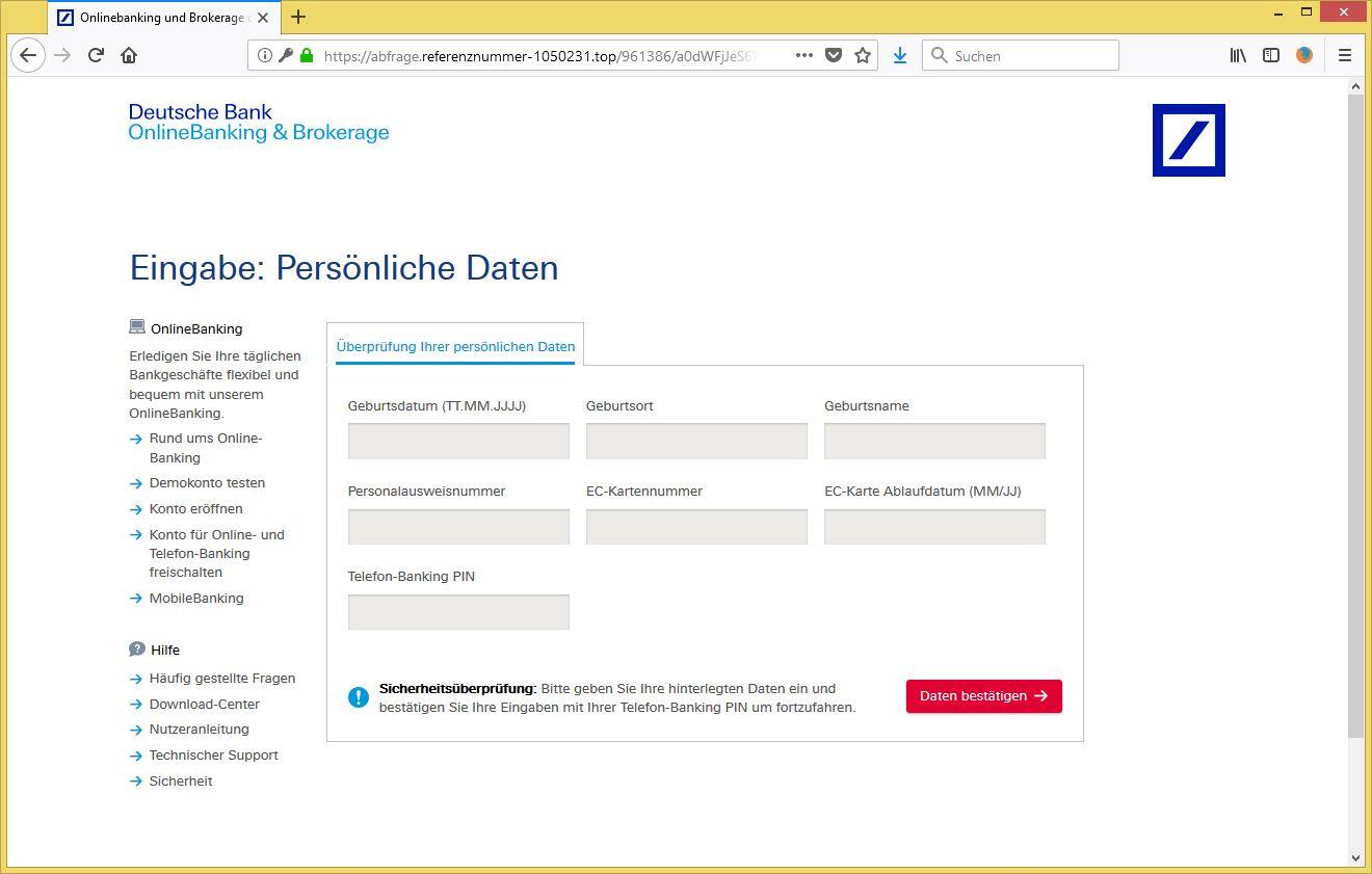 Deutsche Bank Karte Kartennummer