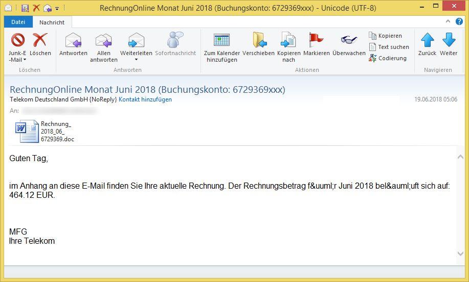 Angeblich Telekom Rechnung Als Word Datei Bekommen Rechnungonline
