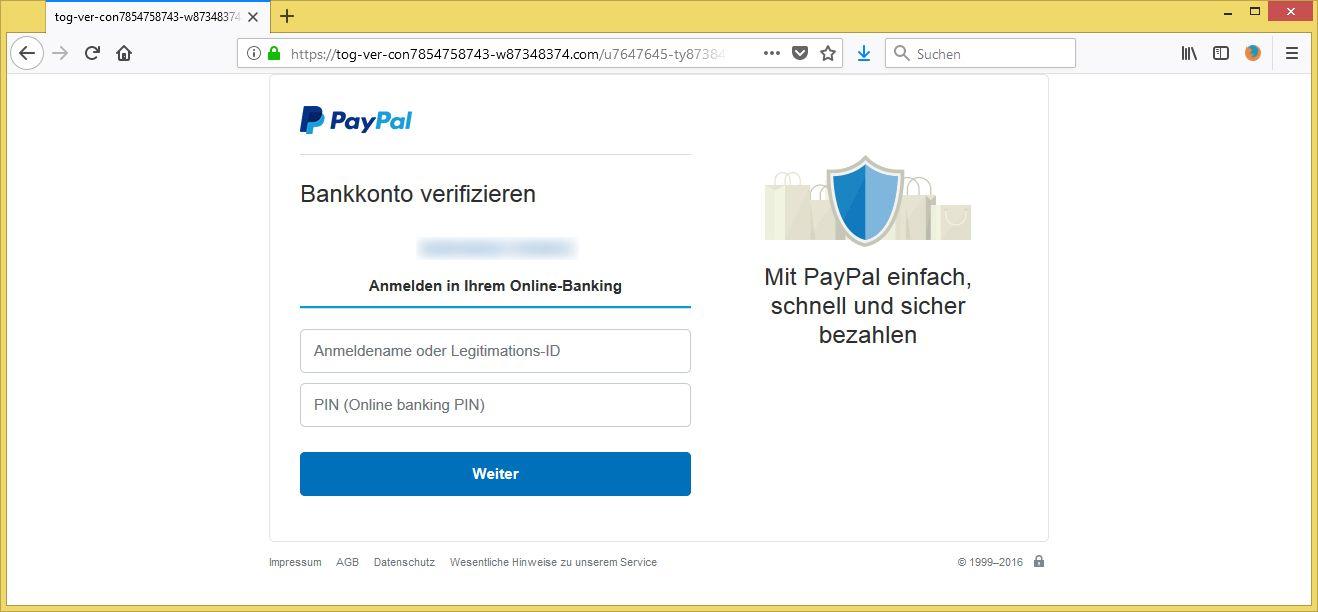 konto verifizieren pl873463746376 von inkasso paypal ist phishing. Black Bedroom Furniture Sets. Home Design Ideas