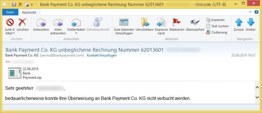 Angeblich Nicht Bezahlte Rechnungen Von Bank Payment Directpay