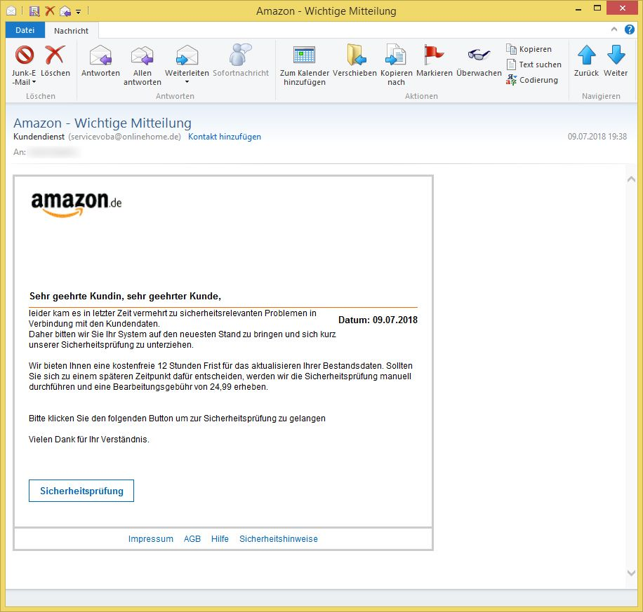 Kundendienst Amazon