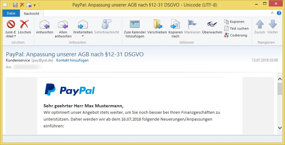 Paypal Dsgvo