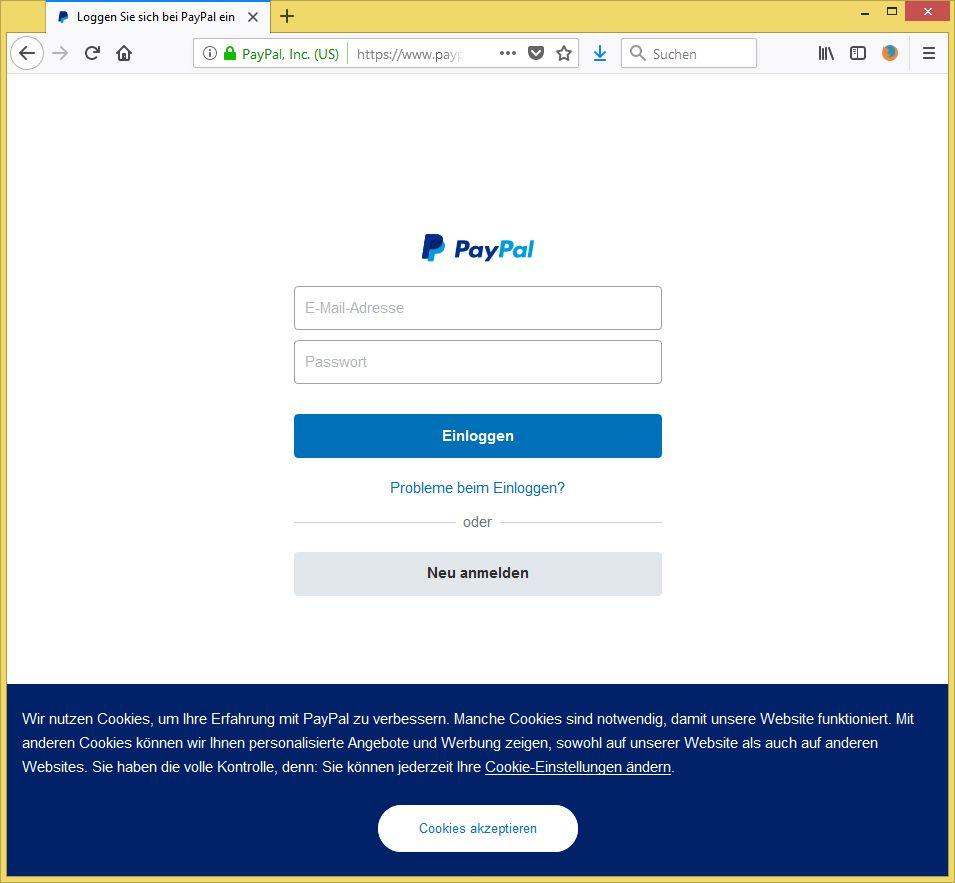 paypal daten ändern