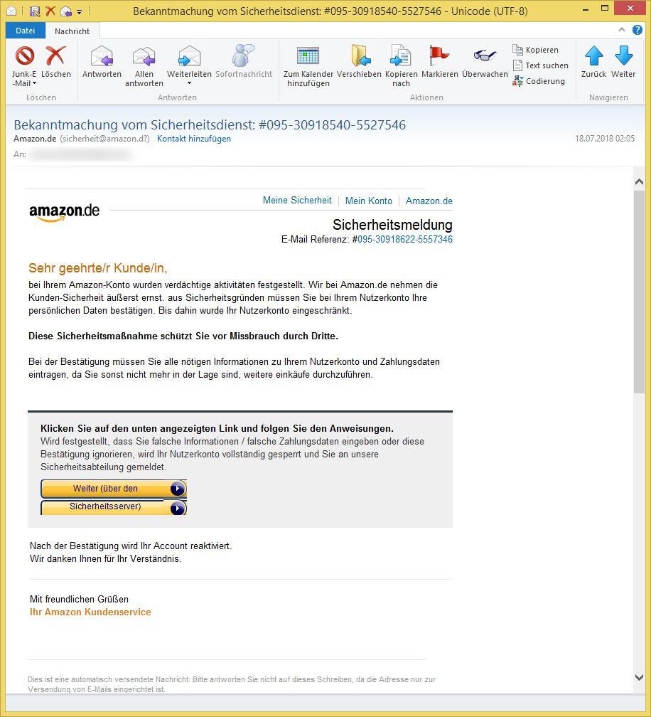 Bekanntmachung Vom Sicherheitsdienst Amazon