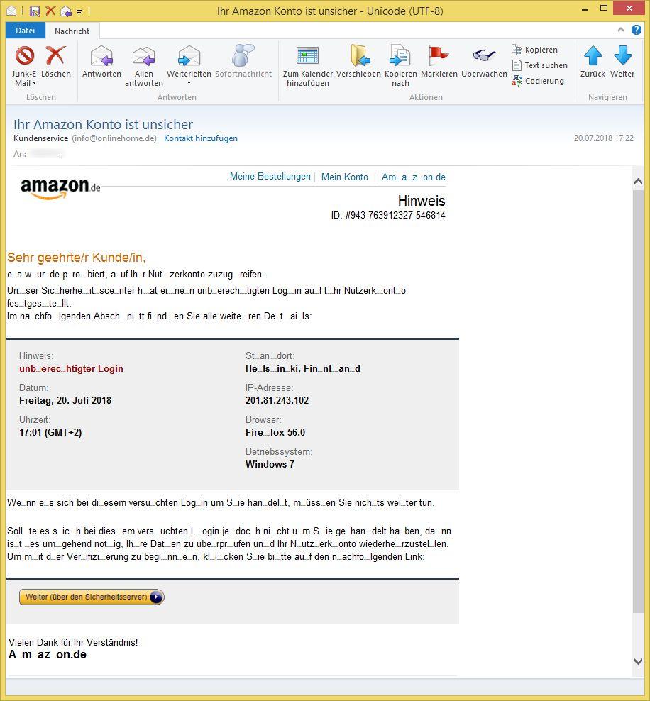 Email Kundenservice Amazon