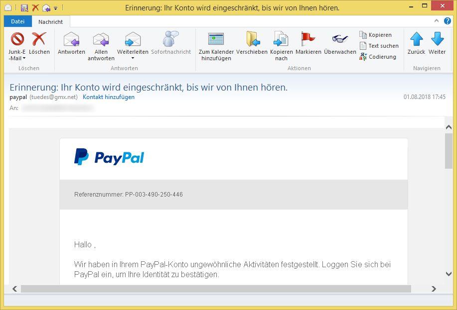 Paypal Bankkonto Lässt Sich Nicht Entfernen