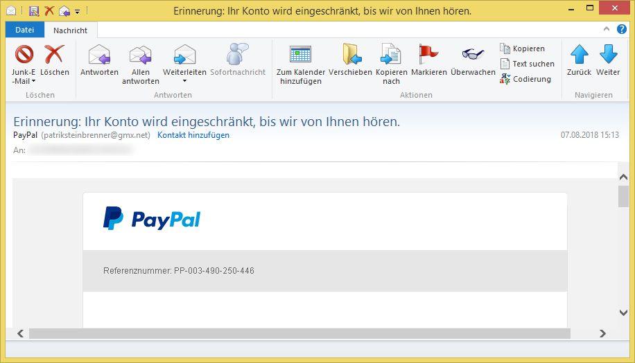 Paypal Ihr Konto Ist Gesperrt