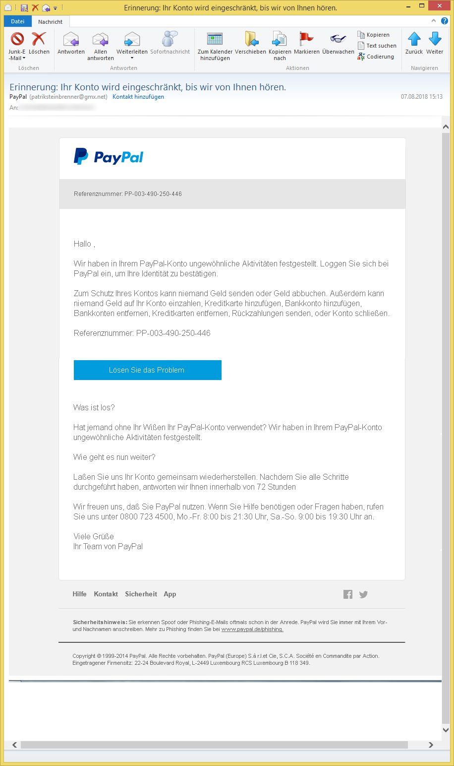Paypal Identitätsnachweis